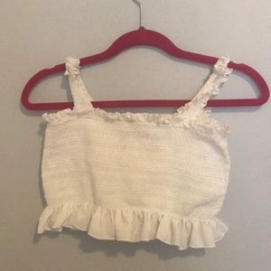 Forever 21 Frilly Crop Top